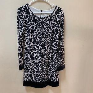 Caché Long Sleeve Black Floral Dress- Business Cas